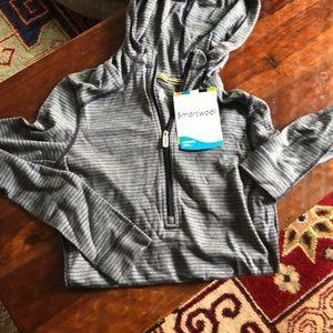Smartwool bass layer hoodie xs NWT merino wool
